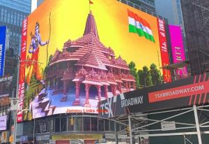 Largest digital display of Lord Ram shines in New...