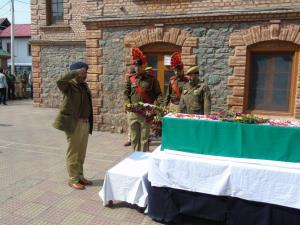 Wreath laying ceremony of martyr held in Srinagar