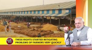 PM Modi says farmers got new rights, opportunitie...
