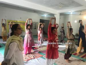 ROB J&K organises Special Yoga Camp for Women