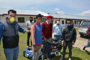 DYSS Shopian distributes sports kits