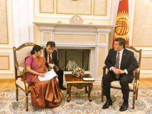 Sushma Swaraj discusses ways to boost ties with K...