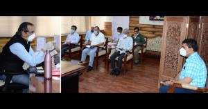 Advisor Baseer Khan reviews development activitie...