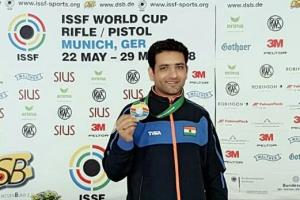 J&K's ace shooter Chain Singh wins silver in Worl...