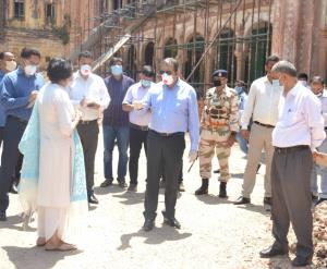 Baseer Khan inspects progress on MMHC Conservatio...