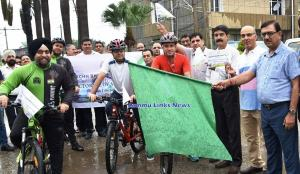 Swachh Bharat Cycle Rally flagged off from Krishi...