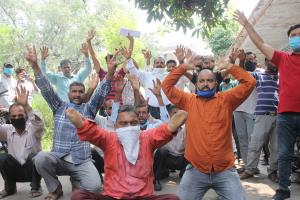 PDD casual labourers hold protest demonstration
