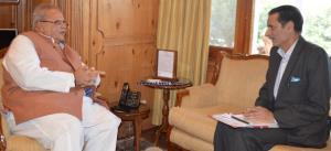Commissioner Secretary GAD briefs Governor