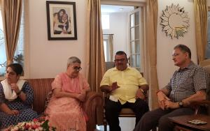 Kavinder, Ganga visit Atal's residence