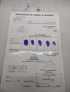 Picture of blank SSC signed by J&K officials goes...