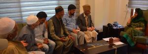 Deputation of custodians of Hazrabal Dargah meets...
