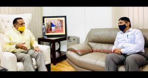 New Chairman UPSC calls on Dr Jitendra Singh