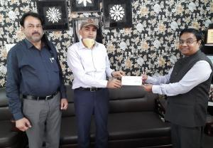 Covid-19: SIDCO donates Rs. 18.10 lakh to J&K Rel...