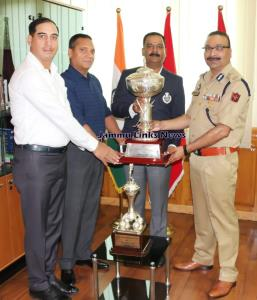 DGP felicitates Police Golf team for winning All ...