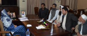 Talab Khatikan deputation meets Mehbooba Mufti