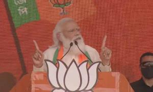 Modi scalds Mamata, says instead of being