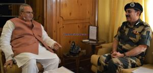 Governor briefed on security situation in J&K