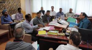 Commissioner Secretary Forest reviews progress of...