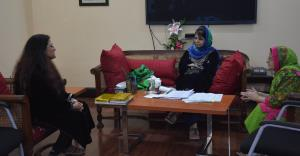 JKSWC Members call on Mehbooba