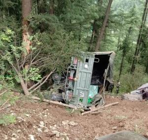 1 soldier martyred, 3 injured as Army truck falls...