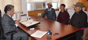 Zanskar, other deputations meet Advisor Ganai