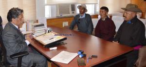 Zanskar, other deputations meet Advisor Ganai