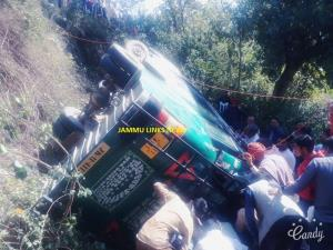 16 Students hurt in a tragic bus accident in Reasi