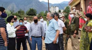 DDC Kishtwar inspects land for Saffron Park, Wome...