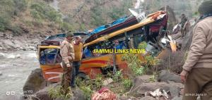 Two dead, 20 injured after bus plunges into gorge...