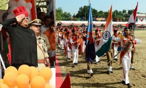 Vyas hoists tri-colour at Jammu