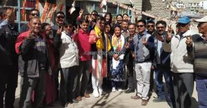 Congress Leader Thukjey Dolma from Kardong area o...