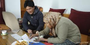 Elderly citizens getting pension at doorsteps in ...